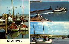 Newhaven Sussex AK ~ 1960/70 Harbour Entrance Boats at Piddinghoe navire Ships