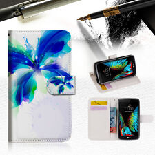 Blue Butterfly Wallet Case Cover For ZTE AXON  mini --A009
