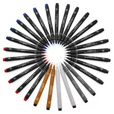 Uni Pin Fineliner Drawing Pen - Set of 29 - Full Range of Colours and Grades