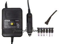 1000MA/1AMP 1.5/3/4.5/6/7.5/9/12 VOLT DC CAR POWER ADAPTOR/SUPPLY/CHARGER/PSU