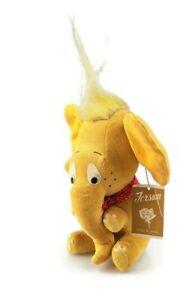 Forsum yellow stuffed elephant vtg Japanese soft animal toy Dakin Dream Pet look