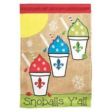 Snowball's Y'all Fleur de Lis-Garden Flag-Burlap Double Sided Appliquéd-13�X18�