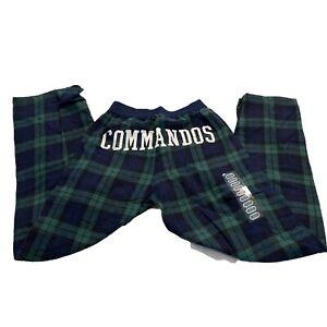 "Boxercraft Youth ""Commandos"" Green Plaid Flannel Pant Size M 10-12"