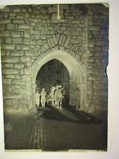 Riquewihr. attelage .plaque de verre négatif photo ancienne