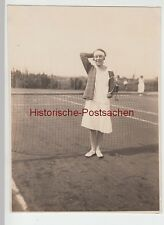 (F4804) Orig. Foto junge Frau auf dem Tennisplatz 1926