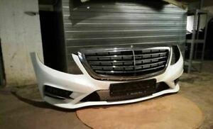 ORIGINAL W222 AMG line Mercedes S-class Front Complete Bumper White