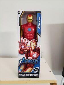 "Iron Man 12"" Action Figure by Marvel Avengers Titan Hero Series 12"" Ships Free"