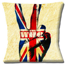 "NEW THE WHO ''V FOR VICTORY' UNION JACK FINGERS MOTTLED 16"" Pillow Cushion Cover"