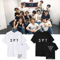 KPOP SEVENTEEN 17 T-shirt 2018 JAPAN ARENA SVT Concert Tshirt Casual Letter Tee
