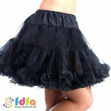 BLACK DELUXE BURLESQUE BALLERINA DANCER TUTU HALLOWEEN - womens fancy dress