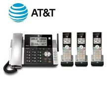 AT&T CL8421 Corded Cordless Phone w/ 3 Handsets & Digital Answering Machine