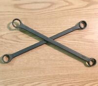 "Proto Box End Wrenches Set of 2 Black Oxide Finish 12 Point 1-1/16"" x 1-1/8"" USA"