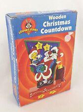 Looney Tunes Wooden Christmas Countdown Advent Calendar Sylvester Tweety w/ Box