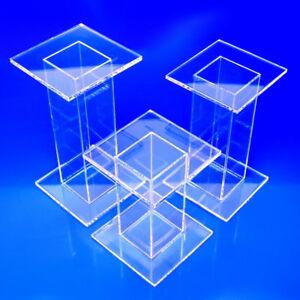 Acrylic Pedestals 2x2x2 to 8x8x8