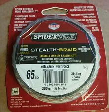 SpiderWire Spider Stealth - Braid 65 lb Fishing Line 300 yds Moss Green