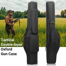Tactical 120CM Dual Rifle Bag Backpack Gun Carry Pouch Shotgun Gun Padded Case
