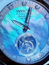 Invicta Man of War Automatic Tourbillon Watch Platinum Mother of Pearl Dial