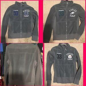j NFL EST. Fleece Jacket Full Zip Steelers Colts Eagles Womans