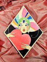 Gorgeous Art Deco En Vogue Flapper Girl 1920s Bridge Tally Score Book Buzza Co