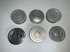 (6)  Vintage Aluminum Folding Cups