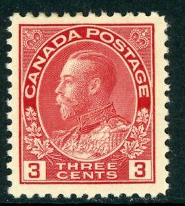 Canada 1923 Admiral 3¢ Carmine Scott 109 Mint H258 ⭐☀⭐☀⭐