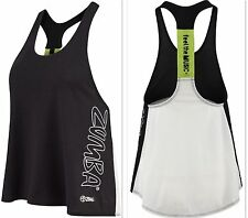 "ZUMBA FITNESS DANCE! Racerback Top Shirt Tank Let Loose & ""Feel the Music"" Sz. S"