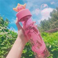 Anime Sailor Moon Bottle Magic Wand Portable Travel Water Cup Mug Transparent