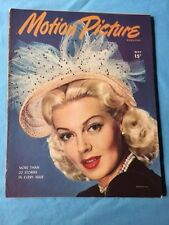 MOTION PICTURE MAGAZINE. MAY, 1946 - ACTRESS LANA TURNER COVER