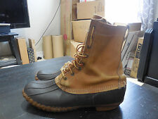 LL Bean Maine Hunting Bean BOOTS size 12 MENS Rubber Brown Leather Shoes Duck