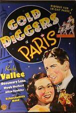 Busby Berkeley's GOLD DIGGERS in PARIS (1938) Rudy Vallee Rosemary Lane SEALED