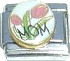 Italian Charm Mom Mother Pink Tulip Flower Love Family