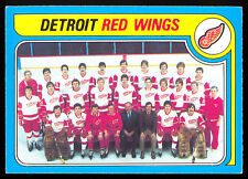 1979 80 OPC  O PEE CHEE #249 DETROIT RED WINGS TEAM UNMARKED EX-NM HOCKEY CARD