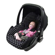 BAMBINIWELT Ersatzbezug Babyschale Maxi-Cosi Pebble SCHWARZ WEISSE PUNKTE