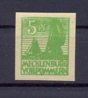 SBZ 32 yb 5 Pfg. seltene Farbe schwärzlichgelblichgrün postfrisch FA Kramp(xs73)