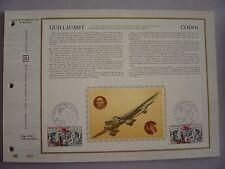 FDC - CEF en soie - poste aérienne : GUILLAUMET + CODOS