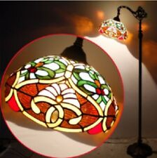 Tiffany Style Hanging Floor Lamp Vintage Light Handcrafted Lamps Glass Stained