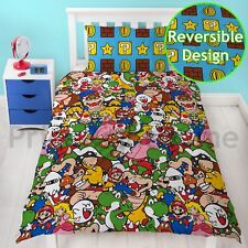 NINTENDO SUPER MARIO SINGLE DUVET COVER SET GANG