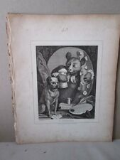 Vintage Print,C.CHURCHILL,Hogarth,1807