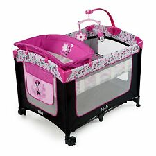 Disney Baby Minnie Mouse Garden Delights Deluxe Playard Play Pen Bassinet NEW