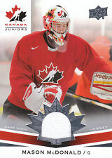 2014 UPPER DECK TEAM CANADA JUNIORS GAME WORN JERSEY MASON MCDONALD *27984