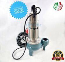 Pompa per acque nere sporche luride fogna reflue elettropompa 1.2 Hp Calpeda