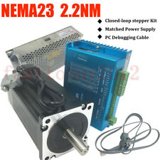 2.2NM 314oz-in DSP Closed Loop Stepper Motor Nema23 Drive/ Power Suply /PC Cable