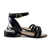 Sandalias De Mujer Cómodo Made in Italy - PT09 NEGRO
