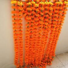 Artificial Flower Garland For Decoration - Pack of 10 Marigold Flower Line
