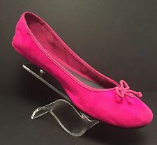 Women's Hot Pink Merona Ballet Style Flats Slip On Sz 9.5