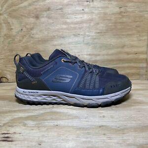Skechers Escape Plan (51591W) Sneakers, Men's Size 9.5 Wide, Navy Blue / Orange