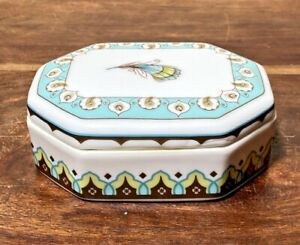 VERA BRADLEY My Home Andrea By Sadek Peacock Collection Turquoise Trinket Box