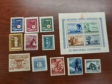 Lot of 12 Independent State Of Croatia Stamps