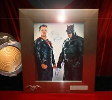 """SUPERMAN v BATMAN"" Signed AFFLECK & CAVILL AUTOGRAPH Display, Frame, COA, DVD"