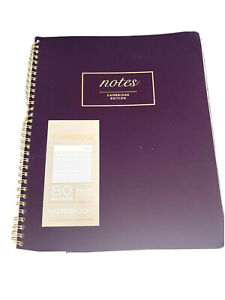 Mead Notebook 80 Sheets Cambridge Edition 8 3/8 X 11 In Lot Of Two Purple